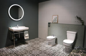 bathroom with tiles