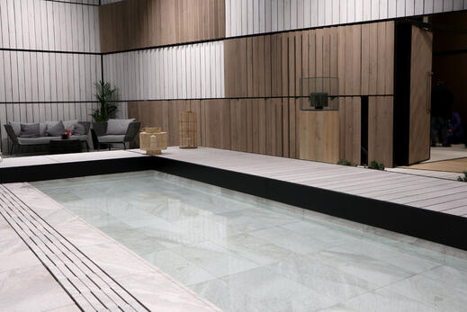 ceramic terrace and pool